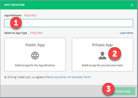 Surveys - Dev - My App - App Creation